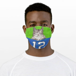 12th Cat Adult Cloth Face Mask