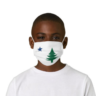 1901 Maine Flag Kids' Cloth Face Mask