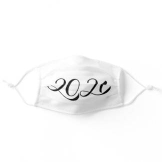 2021 Handwritten numbers. New Year calligraphy Adult Cloth Face Mask