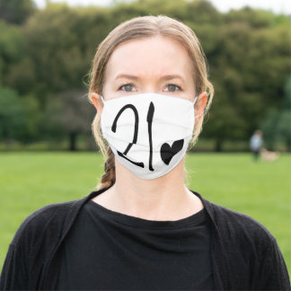 21st birthday adult cloth face mask