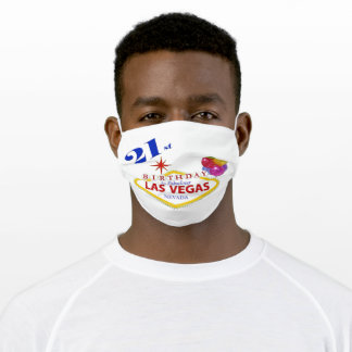 21st Las Vegas Birthday Face Mask