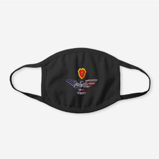 """25th Infantry Division  """"Tropic Lighting"""" Black Cotton Face Mask"""