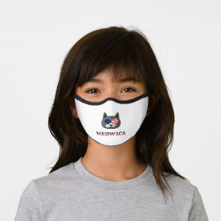 4th july cat Facemask Premium Face Mask