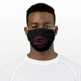 4th Of July Happy Birthday America Adult Cloth Face Mask