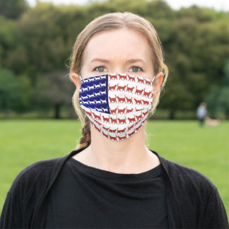 4th of July US Flag Cats Fun Face Mask Gift