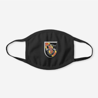 5th Special Forces Group (Airborne) Black Cotton Face Mask