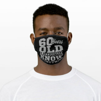 60 YEARS OLD 60 Birthday Gift Dad Knows Everything Adult Cloth Face Mask