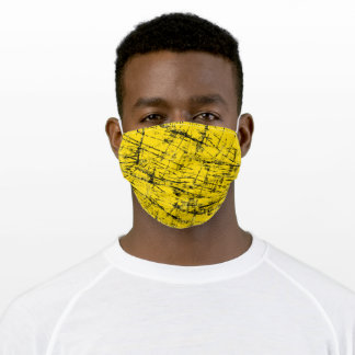 80's Grunge Yellow Adult Cloth Face Mask