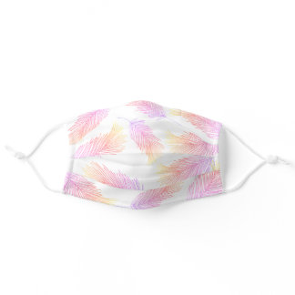 80s Neon Tropical Palm Leaves Pattern Adult Cloth Face Mask