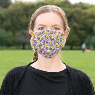 80's Style Retro Memphis Pattern Adult Cloth Face Mask
