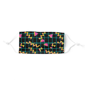 90's 80's Retro Pattern Adult Cloth Face Mask