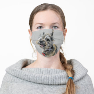 A Smiling Cairn Terrier Adult Cloth Face Mask
