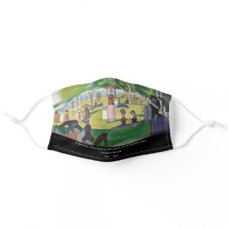 """"""" A Sunday Afternoon on the Island of La Grande  """" Adult Cloth Face Mask"""
