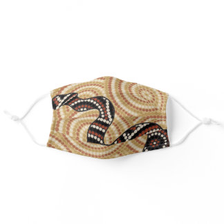 Aboriginal Dot Painting Snake Adult Cloth Face Mask