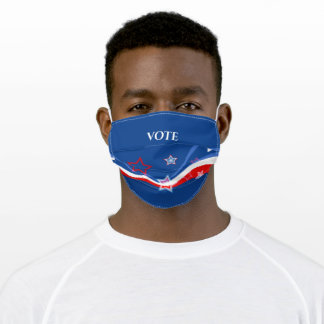 Abstract American flag Stars and Stripes-Vote Adult Cloth Face Mask