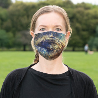 Abstract american football adult cloth face mask