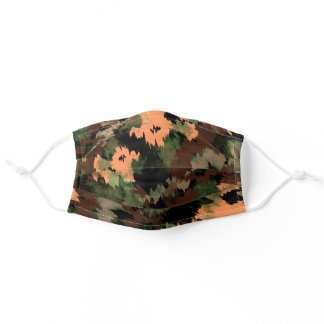 Abstract Army Camo Pattern Adult Cloth Face Mask