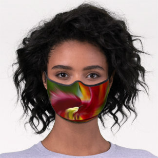 Abstract Art Daylily in Splendor   Premium Face Mask