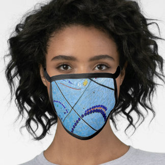 Abstract Blue Baltimore Geometric Mirror Mosaic Face Mask