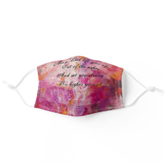 Abstract Christian Prayer -Out of the Ashes Adult Cloth Face Mask