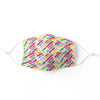 Abstract colorful futuristic decorative pattern adult cloth face mask