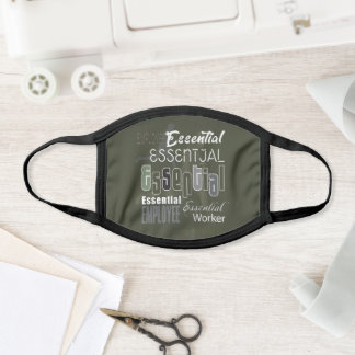 """Abstract """"Essential"""" Employee Lettering Modern Face Mask"""
