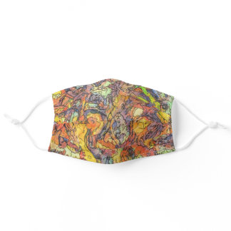 Abstract Expressionism Colorful Art Unisex Adult Cloth Face Mask