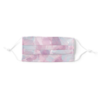 Abstract feathers design adult cloth face mask