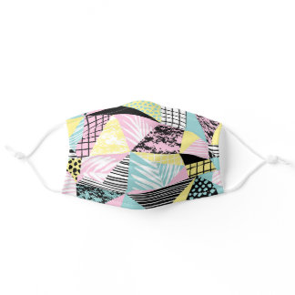 Abstract Geometric Retro Tropical Adult Cloth Face Mask