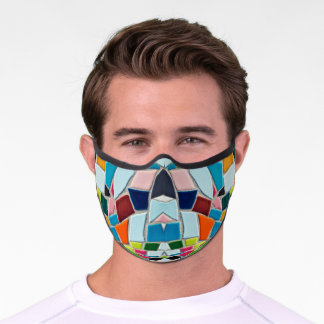 Abstract Mosaic Multi-Color Premium Face Mask