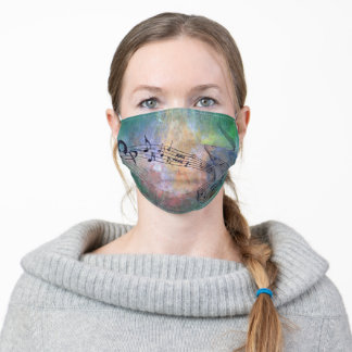 Abstract music F2 Adult Cloth Face Mask