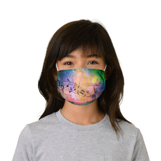 Abstract music kids' cloth face mask