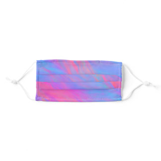 Abstract Neon Ink Flow Adult Cloth Face Mask