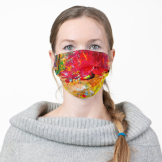 Abstract Of Cheerful Artist Palette Adult Cloth Face Mask
