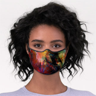 Abstract Painting Premium Face Mask