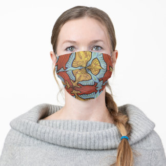 Abstract Pattern Brick Red Verdigris Tan Cloth Face Mask