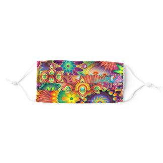 Abstract Psychedelic Mandala Floral Colorful Adult Cloth Face Mask