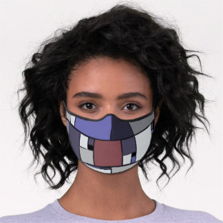 Abstract Rectangles Geometric Art Premium Face Mask