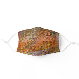 Abstract Retro Glass in Autumn Tones Adult Cloth Face Mask