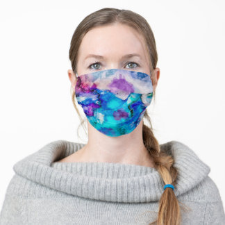 Abstract watercolor adult cloth face mask