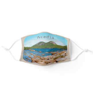 Acadia Desert Bubble Mountains National Park Maine Adult Cloth Face Mask