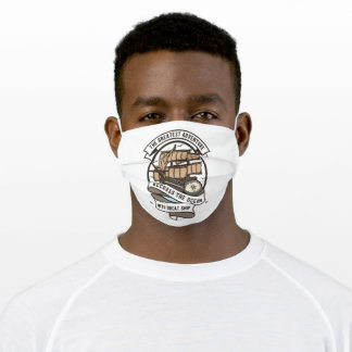 Accross the ocean adult cloth face mask