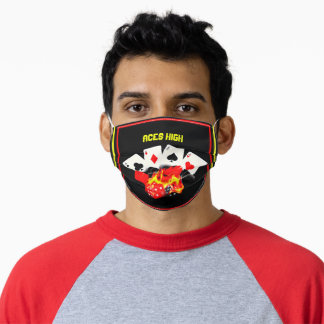 Aces High Poker face Mask