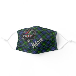 Adam Clan Badge & Tartan Adult Cloth Face Mask