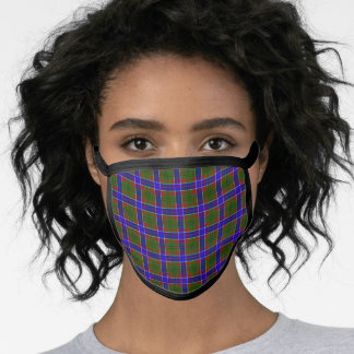 Adam Tartan Plaid Face Mask