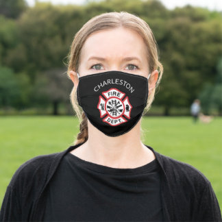 Add Custom Fire Department Logo to Reusable Adult Cloth Face Mask