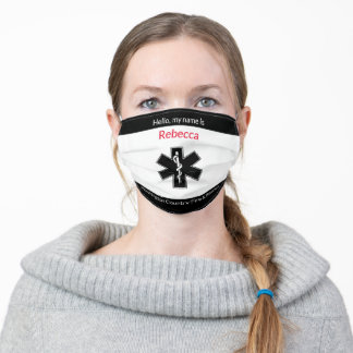 Add EMT Name to County Fire and Rescue Adult Cloth Face Mask