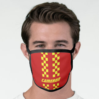 Add Name Fully Custom Colors Checkered Stripes Face Mask