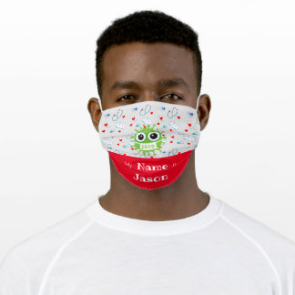Add Name Nursing Cloth Face Mask with Filter Slot