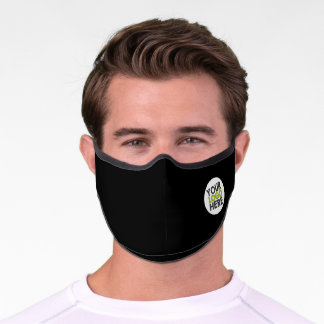 Add Your Company Logo Black Premium Face Mask